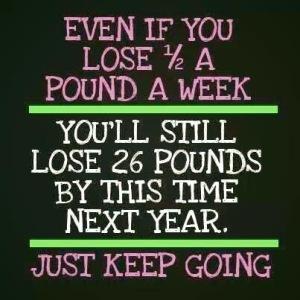 half pound a week